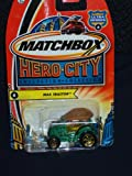 Matchbox Hero City 2003 #6 Ultra Heroes Max Tractor Green Tractor with a Brown Cowboy Hat