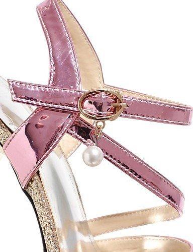 ShangYi Women's Shoes Patent Leather / Glitter Stiletto Heel Heels / Platform Sandals Wedding / Party & Evening /Silver / Gold Silver e8IrN4IviL