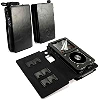 Tuff-Luv Faux Leather Case Cover for Fiio X5 2nd Gen & E12 Amp - MP3 (Inc. Screen Protector) - Black