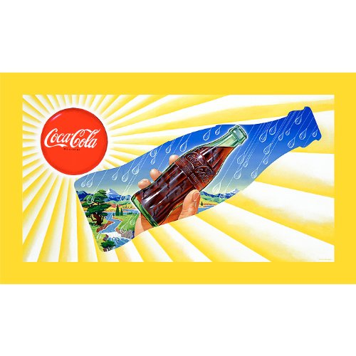 Trademark Fine Art Sun   Rain Coke Bottle 18X32 Inch
