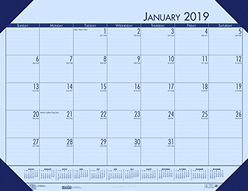 House of Doolittle 2019 Monthly Desk Pad Calendar, EcoTones, Orchid Paper, 22 x 17 Inches, January - December (HOD12473-19) (Pad Ecotones Calendar Monthly Desk)