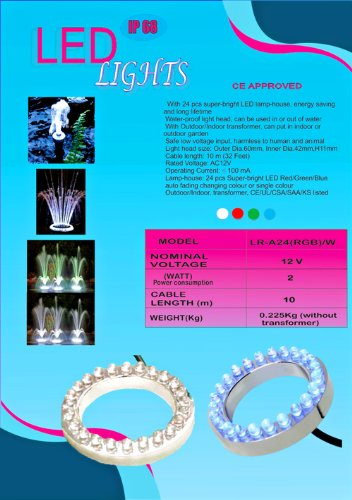 24 RGB Color Changing LED Submersible Fountain Ring by Mico (Image #1)