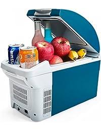 SL&BX Mini car dual-use fridge,8.5l mini refrigerator car dormitory breast milk insulin refrigeration refrigeration portable box -B 20x42x29cm(8x17x11inch)