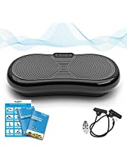 Bluefin Fitness Ultra Slim Vibration Plate | Lose Fat & Tone Up at Home | 5 Programs + 180 Levels | Bluetooth Speakers | Easy Storage | Sleek UK Design (Black)