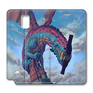 Brian114 Samsung Galaxy Note 4 Case, Note 4 Case - Leather Folio Flip Case Cover for Samsung Note 4 Wired Monster Customized Stand Leather Cases for Samsung Galaxy Note 4