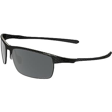 d2e1d2affa Oakley Men's Carbon Blade Rectangular Eyeglasses,Carbon Fiber,Black Iridium  Polarized, ...