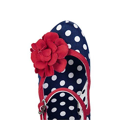 Matching Jane Pumps Bag Hannah Women's Navy Mary Tortola Spot Ruby Shoo amp; UwqXIq0p