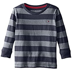 Tommy Hilfiger Little Boys' Jersey Stripe Long Sleeve Crew Tee