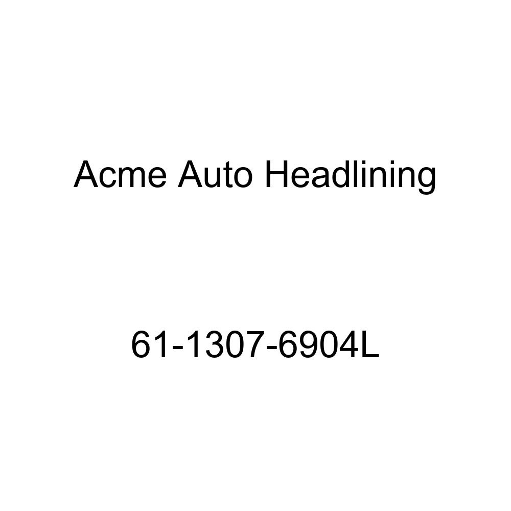 Acme Auto Headlining 61-1307-6904L Apple Green Replacement Headliner 1961 Cadillac DeVille 4 Door Hardtop with 10 Back Panel 6 Bow