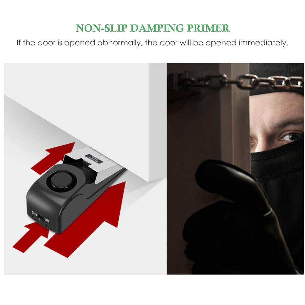 casa con Alarma antirrobo para Viajes Tope inal/ámbrico de Puerta de 120 dB Seguro para el hogar Macabolo Apartamentos