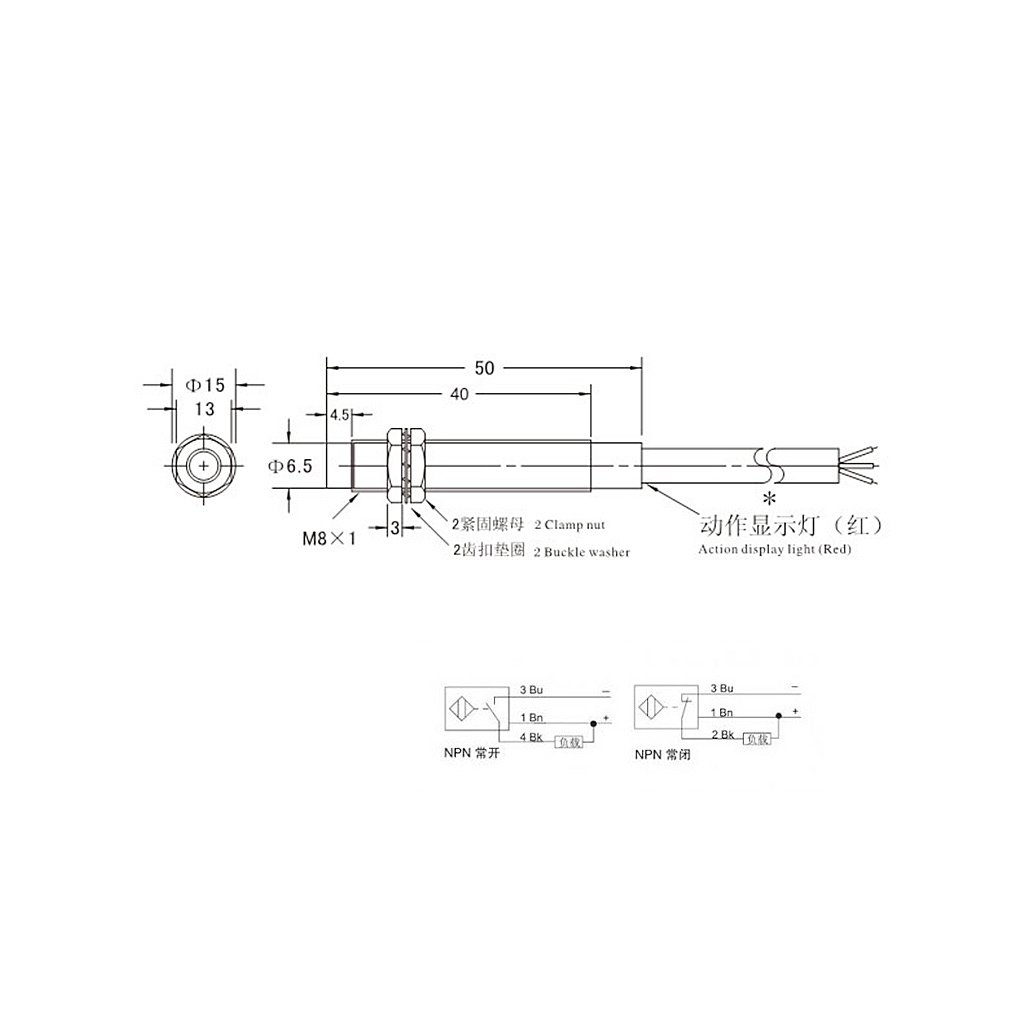 Lj18a3 8 Z Bx Wiring Schematic Prusa Free Download Proximity Sensor Diagram Liyudl M8 2mm Dc 5v Npn No Lj8a3 2 Inductive At