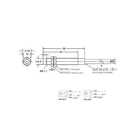 JUNESUN M8 2 mm DC 5V NPN NO LJ8A3-2-Z/BX-5V Interruptor del ...