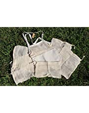 Eco-Friendly Starter Kit, 5 Cotton Mesh Produce Bags and 1 Cotton Tote Carry Bag