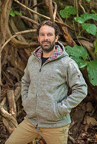 Taglie S – Felpa M Lana Grigio 100 Xl Giacca Di Cappuccio Naturale Virblatt Con Everest Uomo L Nelle Foderata FxBqYW0wp