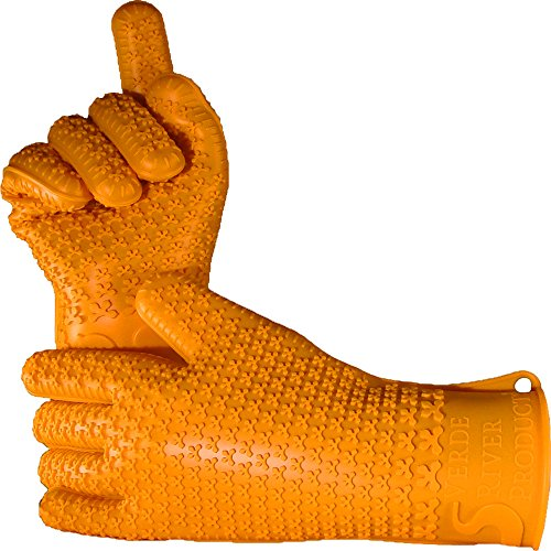 Contest Cookbook (Verde River Products Gecko Grip Gloves - Silicone Heat Resistant Grilling BBQ - Oven - Grill - Baking - Smoking and Cooking Gloves Small - Sunset Orange)