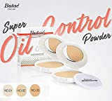 Super Oil Control Face Compact Foundation Powder Perfect Skin Smooth Radiance Oil-free Pressed Powder Spf25 Pa++ Sun Protect & Makeup Matte No.2 Soft Beige 0.50 Oz (14 grams) deal offer