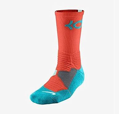 Mancha biología Consulado  Amazon.com : Nike Men's KD Hyper Elite Cushioned Basketball Socks Medium  (6-8) Orange Blue White : Clothing