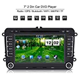 "Qiilu 7"" Car Portable DVD Player 2 Din GPS Nav Map Radio with Bluetooth/Internet/Wince6.0 For VW/Volkswagen/POLO/PASSAT/Golf/Skoda/Seat"
