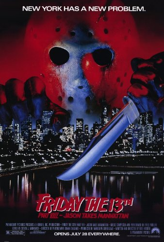 Pop Culture Graphics Friday The 13th Part 8 Jason Takes Manhattan Poster Movie 11x17 Kelly Hu Jensen Daggett Scott Reeves