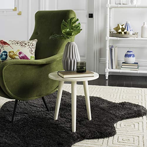 Safavieh Home Orion Modern Antique White Round Accent Table