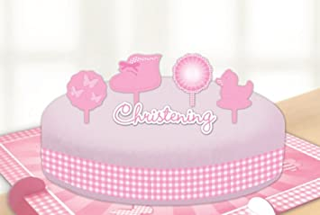 Amscan Taufe Beute Kuchen Dekorieren Kits Pink Amazonde