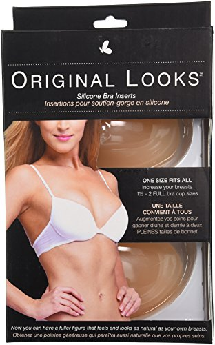 Original Looks Silicone Bra Inserts and Enhancers, One Size Fits All