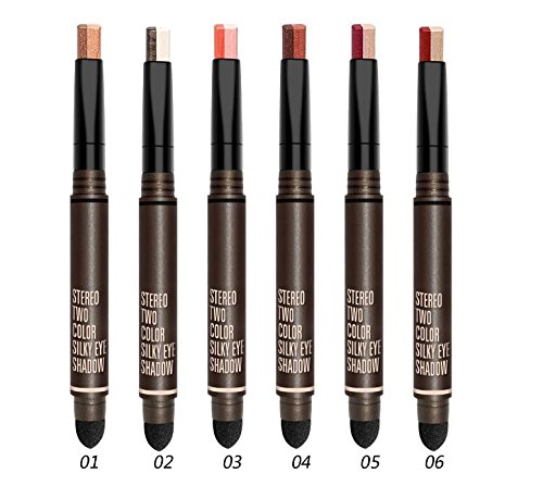 Huihuger Hot New Pattern Ombretto Shimmer Eyeshadow Stick Ombretto con doppio ombretto