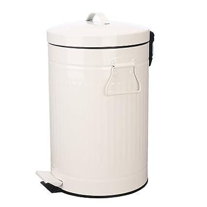 Amazon.com: Bathroom Trash Can with Lid, White Bathroom ...