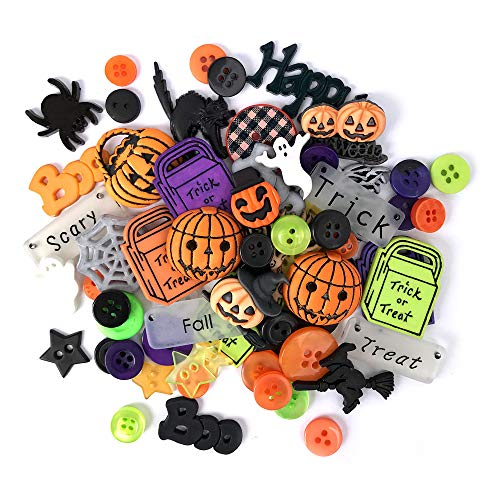 Buttons Galore and More Collection Round Novelty Buttons & Embellishments Based on Variety of Themes, Holidays and Seasons for DIY Crafts, Scrapbooking, Sewing, Cardmaking and Other Projects - 50 Pcs]()