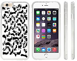 Rikki KnightTM Silhouette Fashion Shoes Design iPhone 6 Case Cover (Clear Rubber with front bumper protection) for Apple iPhone 6