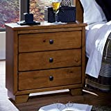 Progressive Furniture Diego Nightstand, 24 x 15 x 25, Cinnamon Pine