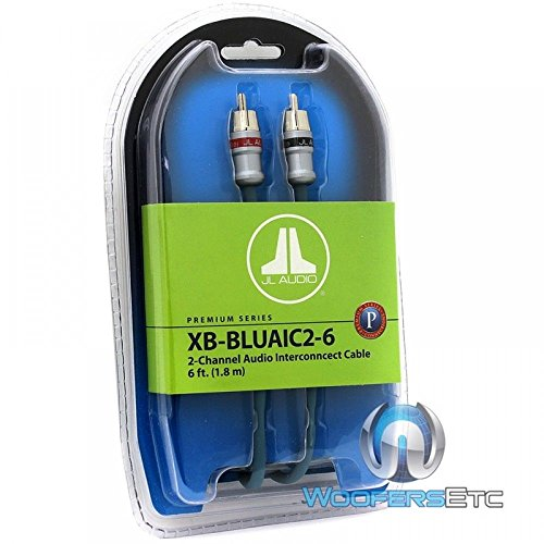 JL Audio XB-BLUAIC2-6 2-Channel Twisted-Pair Audio Interconnect Cable with Machined Connectors, 6-Feet (6 Channel Amplifier Jl)