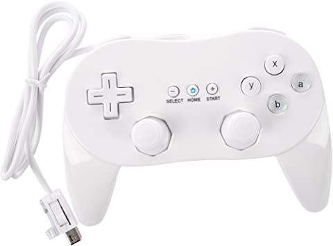 REFURBISHHOUSE Mando Controlador para Nintendo Wii Clasico Juego Cable Consola Blanco: Amazon.es: Electrónica