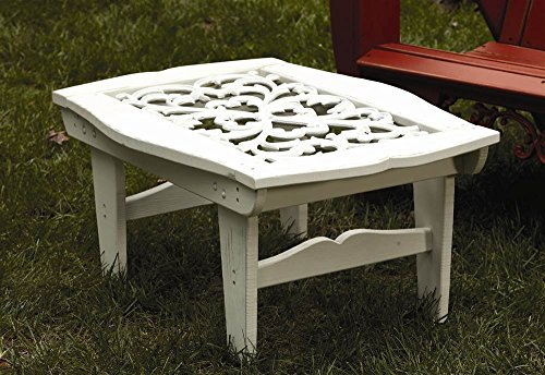 (Uwharrie Cocktail Table in Southern Pine with Cast Aluminum Insert (White))