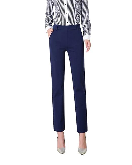 Kasen Mujer Pantalones Pitillo Oficina Pantalones De Traje ...