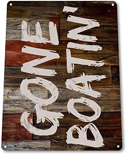 - TIN Sign B273 Gone Boating Boat Fish Fishing Lake Beach House Cottage Rustic Metal Decor Tin Sign 7.8inch11.8inch