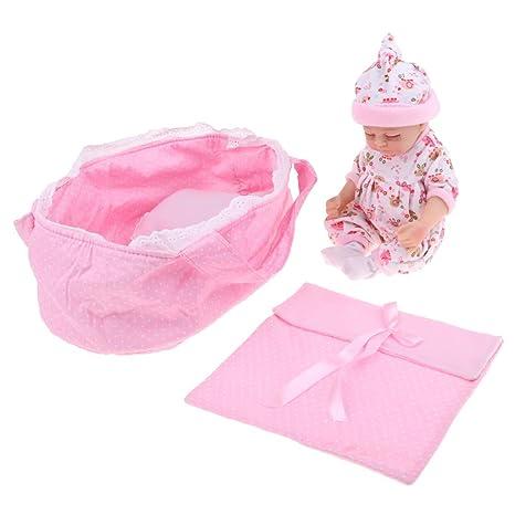 MagiDeal Saco de Dormir para 11inch Muñeca Recién Nacida de Bebé Cuna de Felpa - 27cm