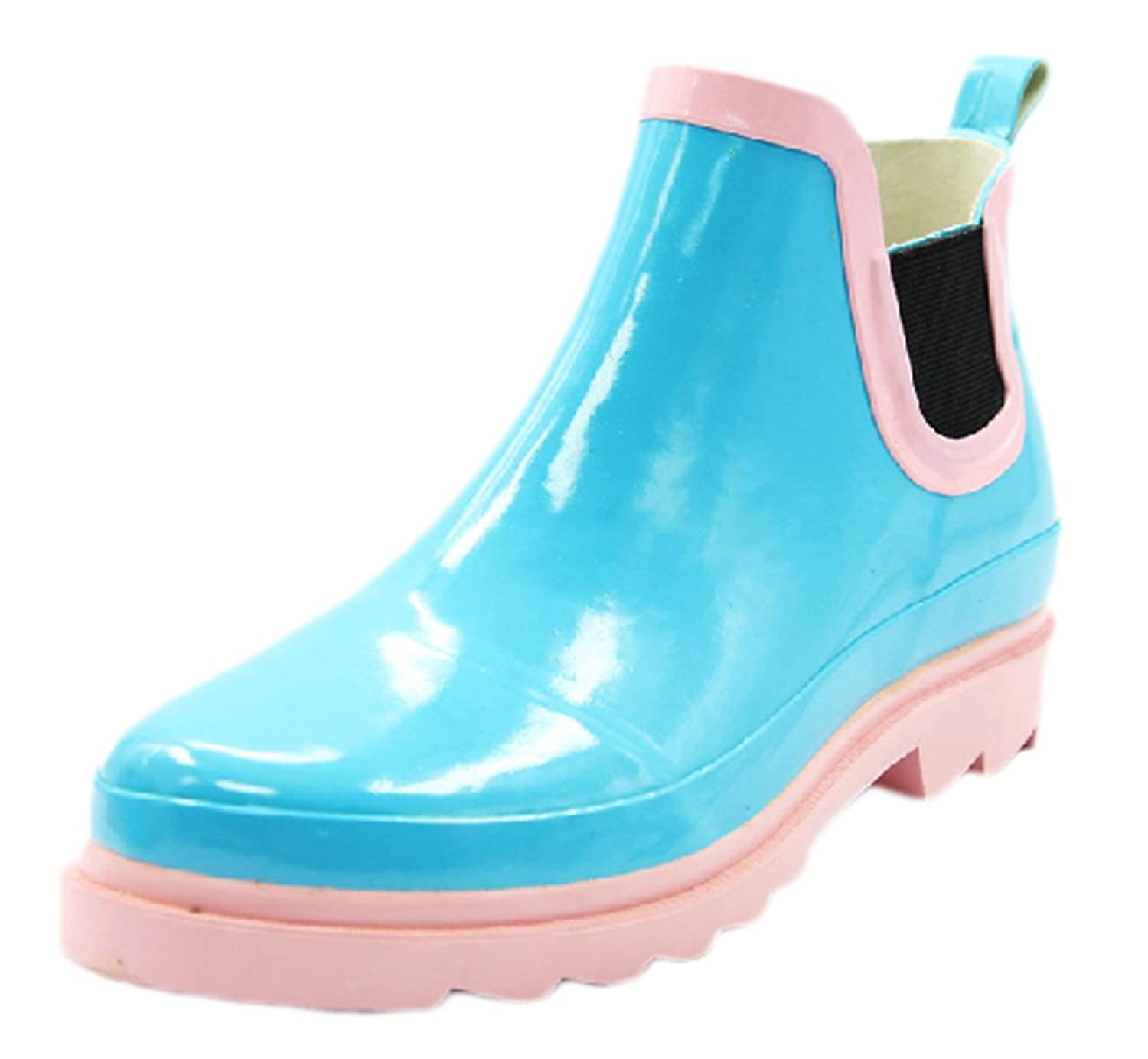 Ace Women's Girls Cute Waterproof Pull-on Work Fashion Rain Boot
