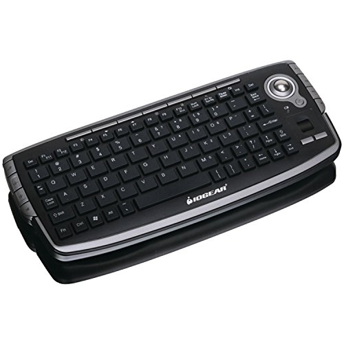 IOGEAR 2.4GHz Wireless Compact Keyboard with Optical Trackball and Scroll Wheel, (Wheel Optical Trackball)