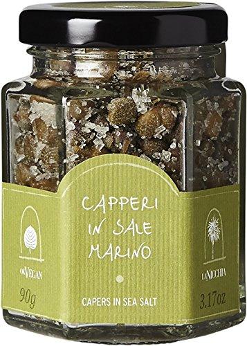 Capers in Sea Salt - La Nicchia - Pantelleria Island, Sicily - 100 gr