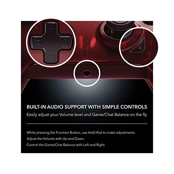 PDP 048-082-NA-RD Wired Controller for Xbox One, Xbox One X and Xbox One S, Crimson Red 6