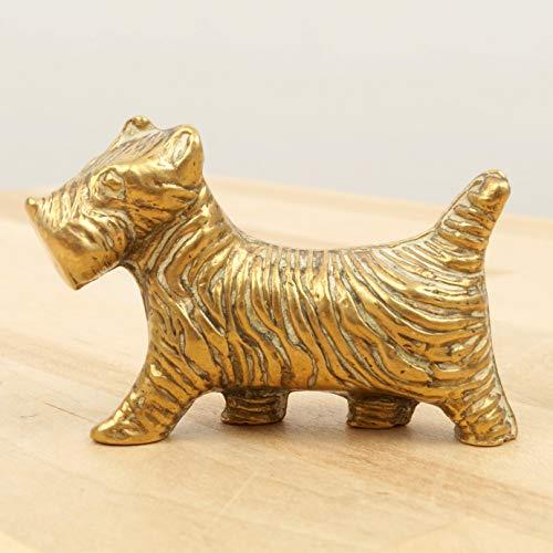 Dog Sculpture || Scottish Terrier || Vintage Statue || Metal Alloy Figurine || Miniature Statuette