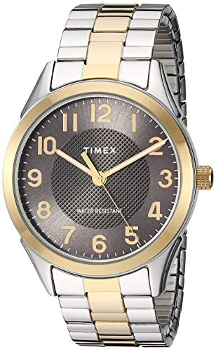 (Timex Men's TW2T45900 Briarwood 40mm Two-Tone/Black Stainless Steel Expansion Band)