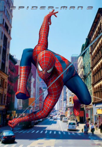 "Spider-Man 2 - Movie Poster / Print (Teaser - Swinging Through NYC) (Size: 27"" x 40"")"