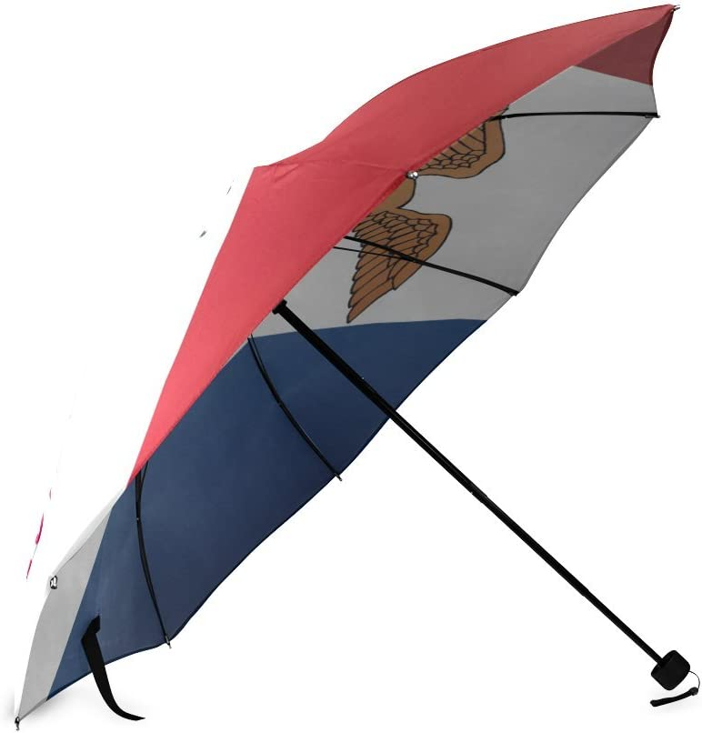 Custom Iowa State Flag Compact Travel Windproof Rainproof Foldable Umbrella