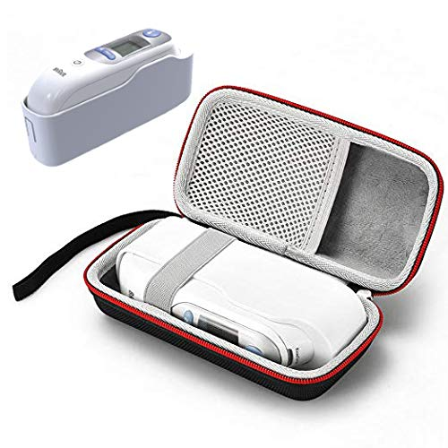 Hard Case for Braun ThermoScan 7 IRT6520 Ear Thermometer - Travel Protective Carrying Storage Bag for Braun Digital Ear Thermometer.