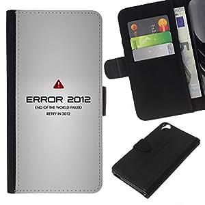 KLONGSHOP // Tirón de la caja Cartera de cuero con ranuras para tarjetas - Error 2012 - HTC Desire 820 //