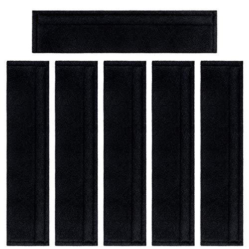Covers Belt Seat Car (Car Seat Belt Covers Soft Faux Sheepskin Shoulder Strap Pad for Adults (Black) 6PCS)