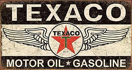 Desperate Enterprises Texaco 36 Round Tin Sign 11.75 Diameter