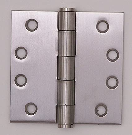Brass Box of 1 HAGER 119145453 1191-4.5x4.5-3 Full Mortise Plain Bearing Standard Weight 4.5 by 4.5 Bright Brass Finish